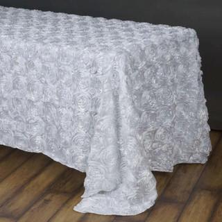 90x156 Grandiose Rosette Tablecloth