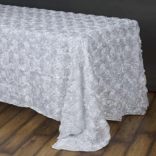 90x156 Grandiose Rosette Tablecloth