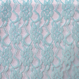 Flower Lace Runner Turquoise