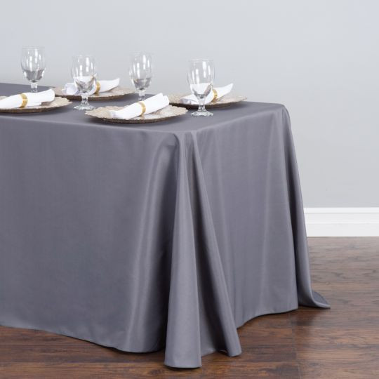Polyester Rectangle Tablecloth Charcoal