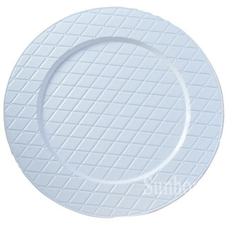 """White Woven Charger Plate 13"""""""