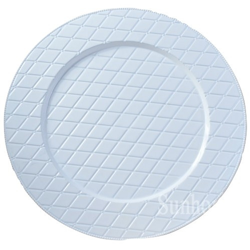 White Woven Charger Plate 13""