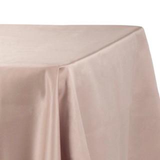 90x156 Lamour Satin Tablecloth Taupe