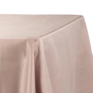 Lamour Satin Rectangle Tablecloth Taupe