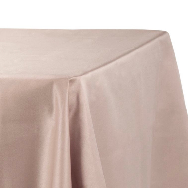 Lamour Satin Rectangle Tablecloth Taupe