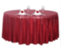 Sequin Round Tablecloth Burgundy
