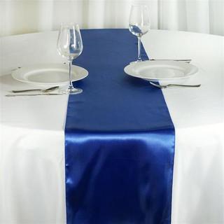 Satin Table Runner  Royal Blue