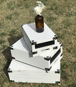 White Display Crates - Set of 3