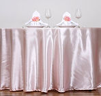 Satin Round Tablecloth Blush