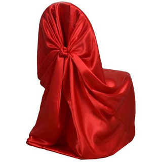 Universal Satin Chair Cover Red