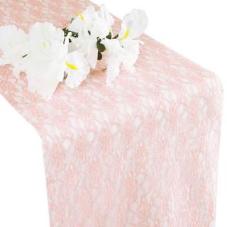 Flower Lace Runner Pale Blush