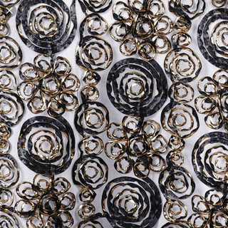 Tulle Satin Couture Runner Black & Gold