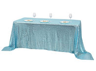Sequin Rectangle Tablecloth Serenity Blu