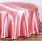 Satin Round Tablecloth Rose Quartz