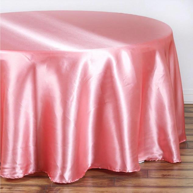 Satin Round Tablecloth Rose Quartz