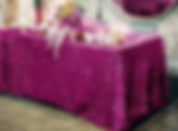 Sequin Rectangle Tablecloth Fuchsia