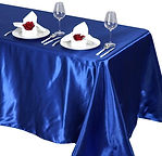 Satin Rectangle Tablecloth Royal Blue