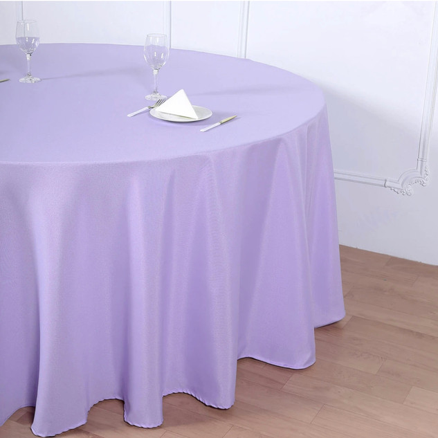 Polyester Round Tablecloth Lavender