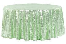 120 Mint Green inch Sequin Tablecloth.jp