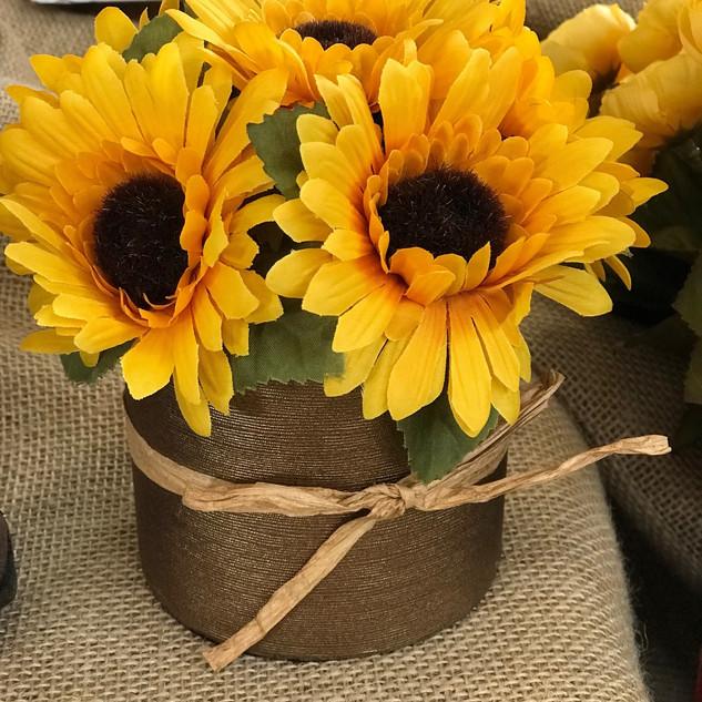 Autumn Sunflowers Yellow