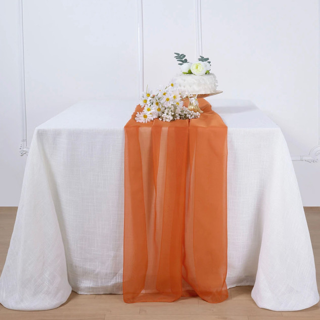 Chiffon Runner Burnt Orange 6'