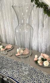Clear Glass Flared Floor Vase.JPG