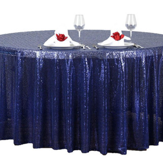 Sequin Round Tablecloth Navy