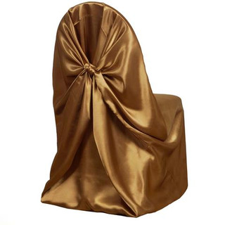 Universal Satin Chair Cover Gold