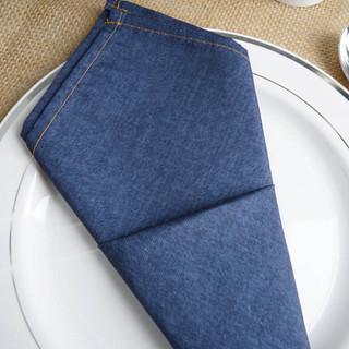 Faux Denim Polyester Napkin 17inch