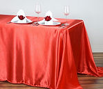 Satin Rectangle Tablecloth Coral