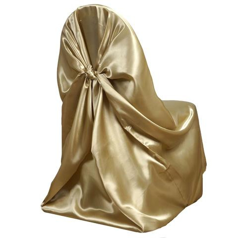 Universal Satin Chair Cover Champagne