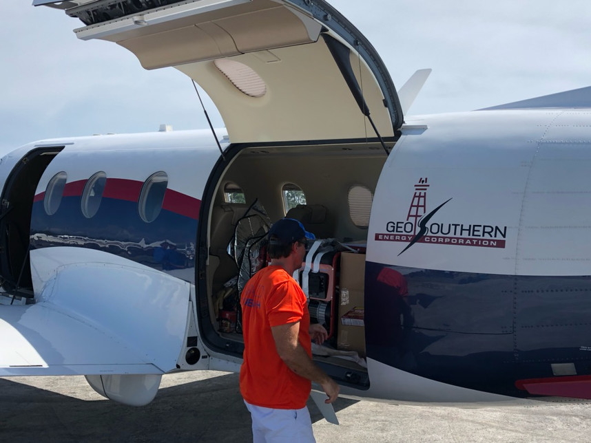 Loading up the plane