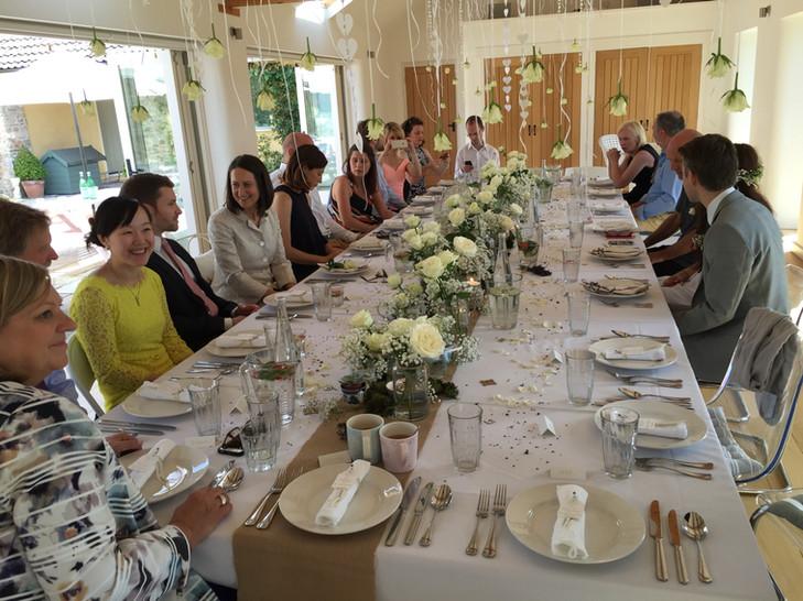 The Long Room Wedding setting