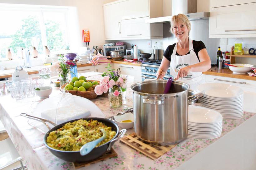 Long Room Kitchen Vobster Farm Retreat (