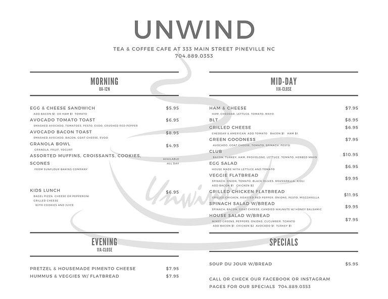unwind menu.jpg