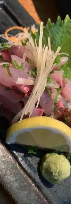 Seasonal Fish I Aji no Tataki