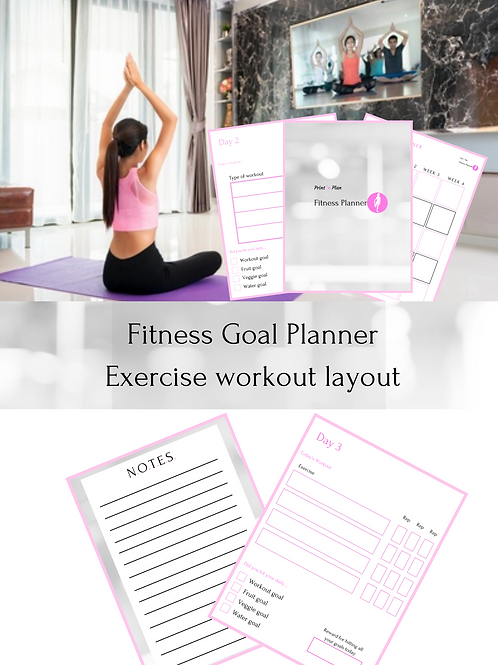 Fitness Goal Planner - Exercise Workout Layout
