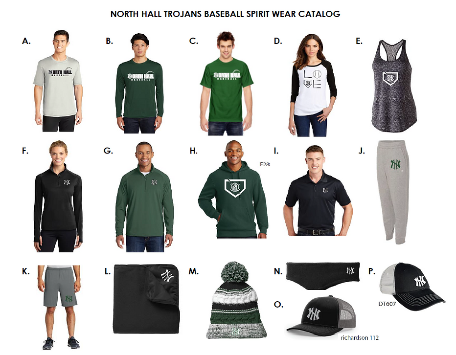 2020 NH Trojans Baseball Spirit Wear Cat