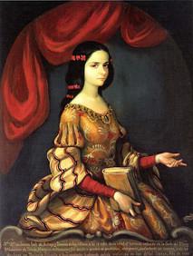 Sor Juana Ines de La Cruz. (1648-1695) Mexican Scholar and Nun.