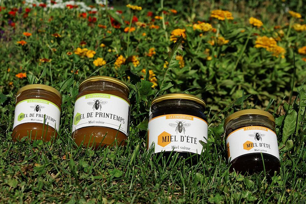 assortiment miel d'apiculteur.ch