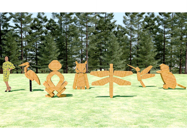 in the works: greenway art sculptures