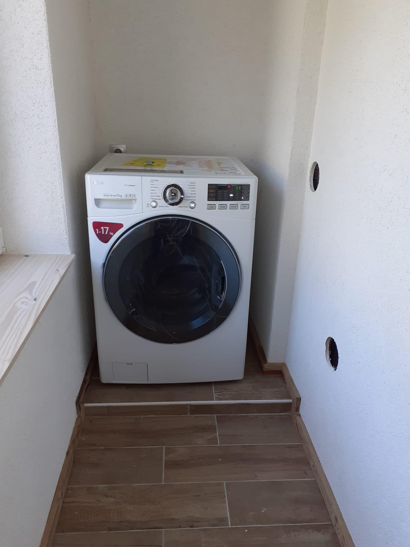 Coin buanderie, machine à laver