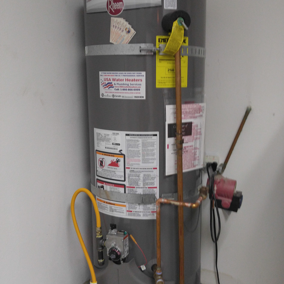 50 Gal Rheem Water Heater Installation