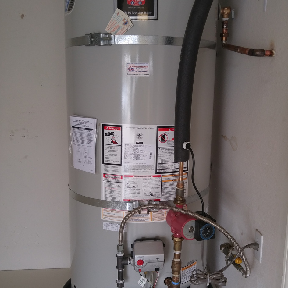 Bradford White 75 Gal Water Heater Installation