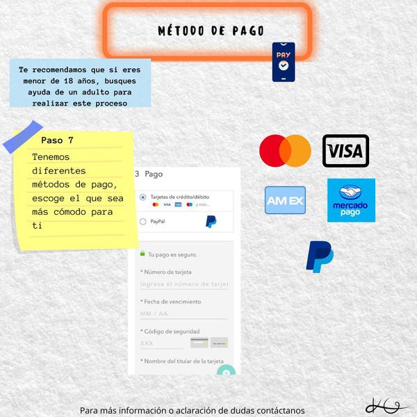 Paso 7 - Métodos de pago