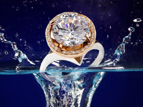 JewelleryPhotography_Splash_DiamindRing.