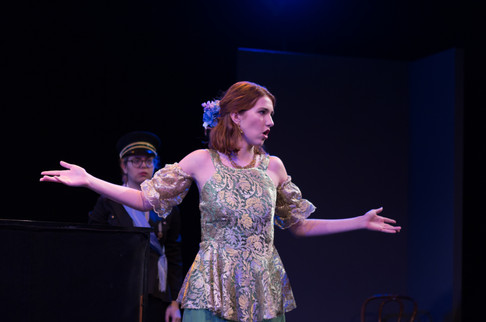 """A production still from """"All's Well That Ends Well"""" at the Stella Adler Studio. Photo by Guerilla Photography."""