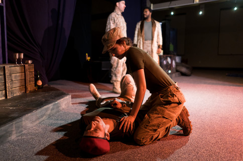 A production still from New Light Theatre production's company of Othello. Photo by Lena Mucchetti Photography.