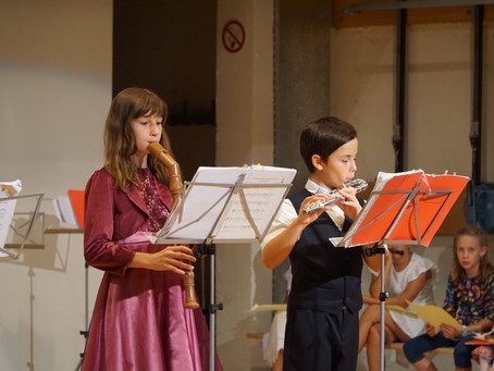 Fr, 18. 06. 2021 um 19 Uhr Mehrzweckhalle Niederdorf Musizierstunde Blockflötenklasse Monika Bolz
