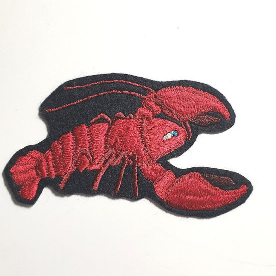 Larry The Lobster Sew on Patch v.3